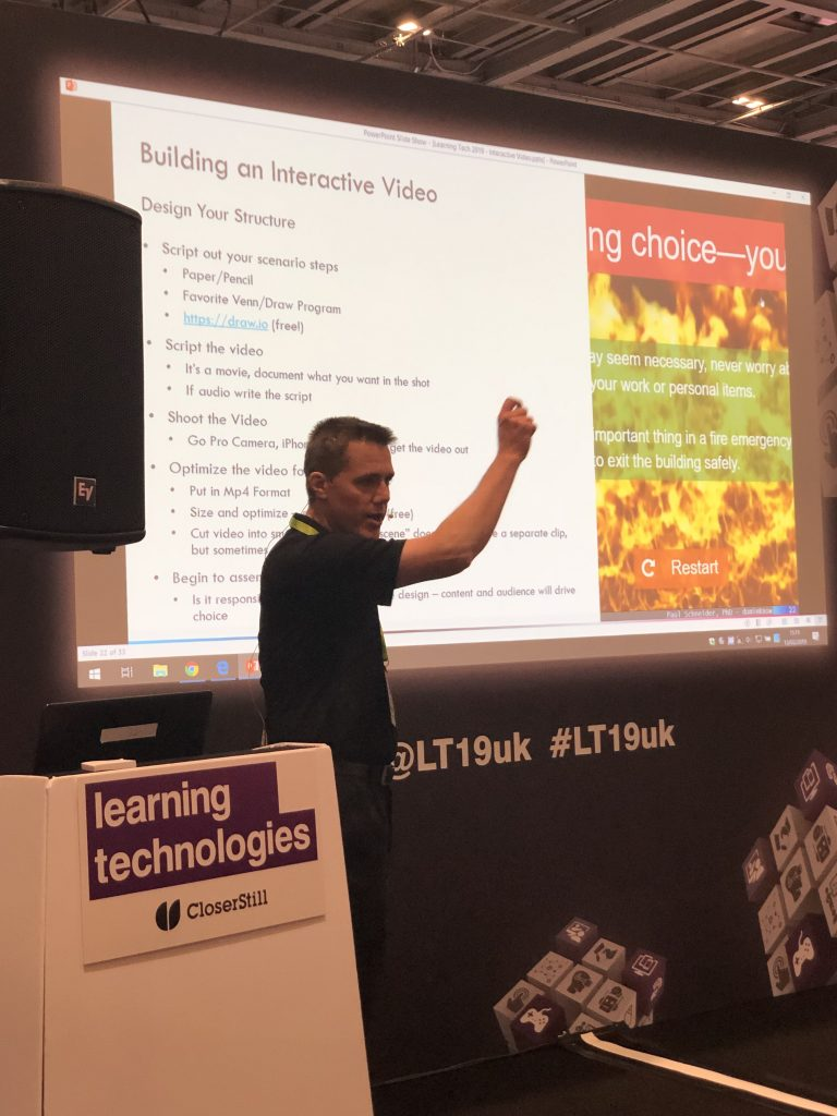 Learning technologies conference interactive video